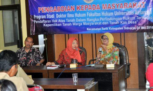 Prodi S3 FH UNAIR adakan Penyuluhan Persoalan Tanah di Kecamatan Tarik, Sidoarjo