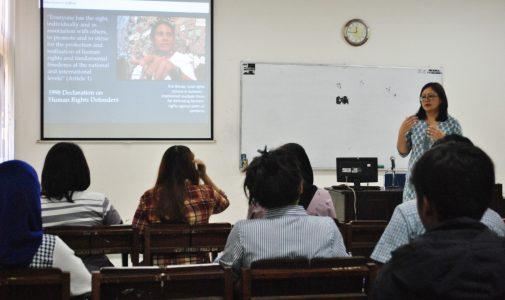 Kuliah Tamu Hukum HAM Internasional Soroti Hasil Riset Pembela HAM dan Kebebasan Akademik Indonesia