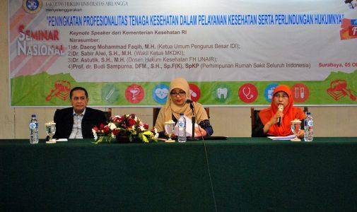 Seminar Nasional Hukum Kesehatan Soroti Perlindungan Hukum bagi Tenaga Kesehatan