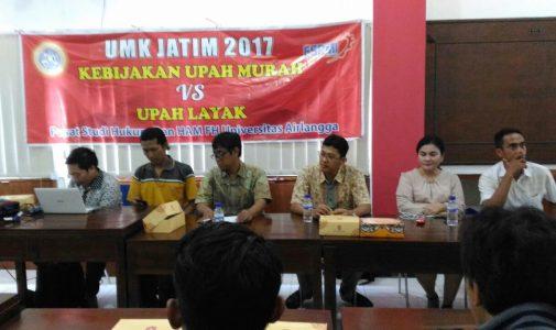 HRLS FH UNAIR Bahas Tarik Ulur Upah Minimum Jatim 2017