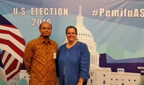 "Jalin Kerjasama, Ketua Departemen Hukum Internasional Diundang Konjen USA pada ""an Election 2016 Open House"""
