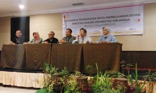 FH UNAIR Adakan Lokakarya Peningkatan Mutu Pembelajaran Bagi Dosen