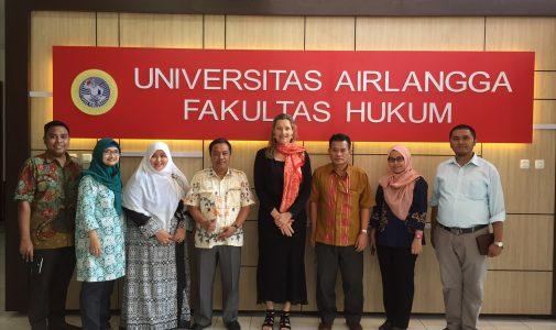 FH UNAIR menerima kedatangan Professor Dr. Tineke E. Lambooy,  sebagai Visiting Professor FH UNAIR dari Nyenrode Business  Universiteit, Belanda dan Utrecht University