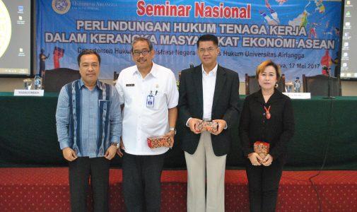 SEMINAR DALAM RANGKA PERLINDUNGAN HUKUM TENAGA KERJA DALAM KERANGKA MASYARAKAT EKONOMI ASEAN