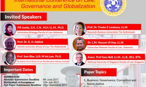 THE 1st INTERNATIONAL CONFERENCE ON LAW, GOVERNANCE AND GLOBALIZATION
