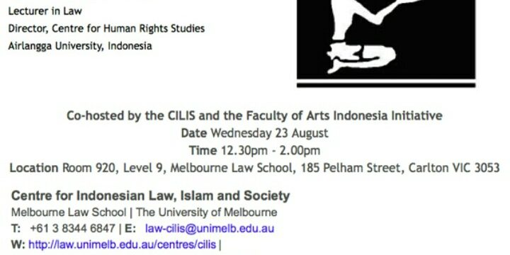 Visiting Scholar di Sidney Myer Asia Center, the University of Melbourne