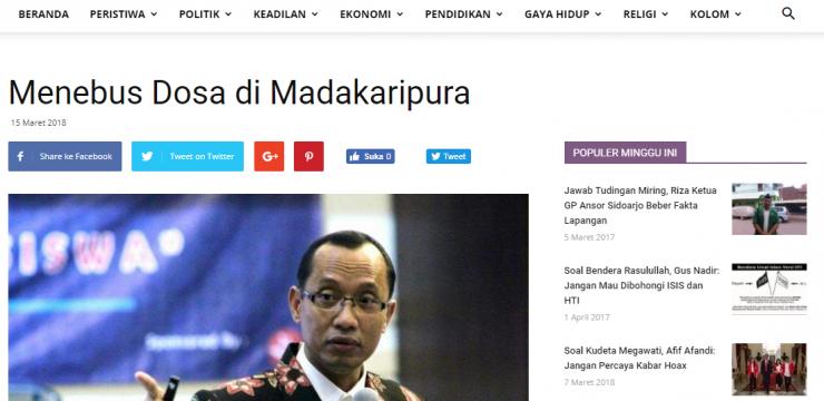 Menebus Dosa di Madakaripura