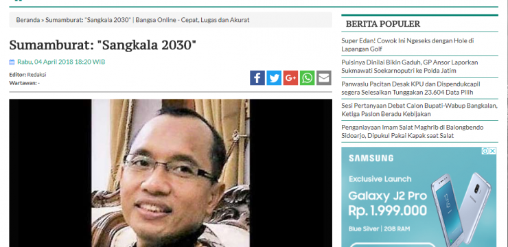 "Sumamburat: ""Sangkala 2030"""