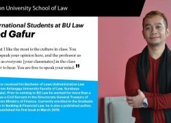 International Students at BU Law Abd Gafur