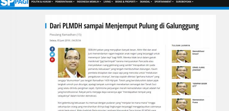 Dari PLMDH sampai Menjemput Pulung di Galunggung