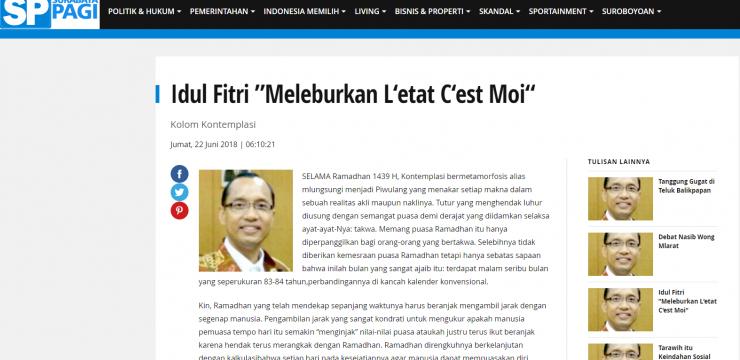 """Idul Fitri """"Meleburkan L'etat C'est Moi"""""""