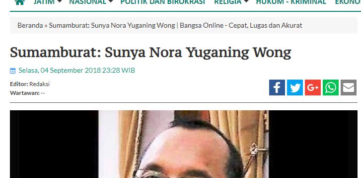 Sumamburat: Sunya Nora Yuganing Wong