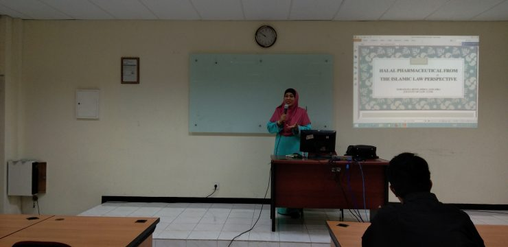 Guest Lecture on The Drugs and Halal Food Persepective in Malaysia