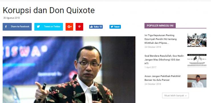 Korupsi dan Don Quixote