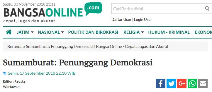 Sumamburat: Penunggang Demokrasi