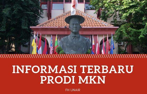Informasi Program Studi MKN Semester Genap 2018/2019