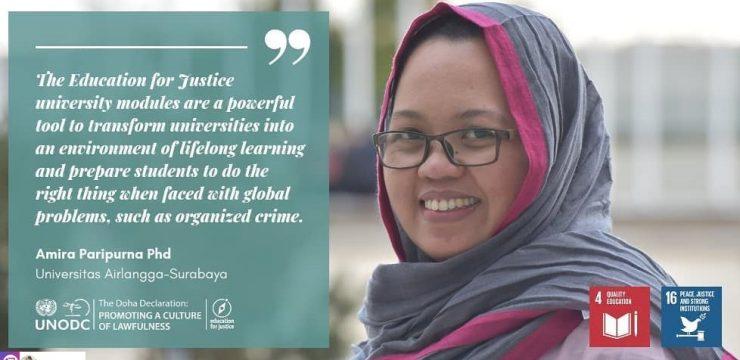Dr. Amira Paripurna, combating an organised crime