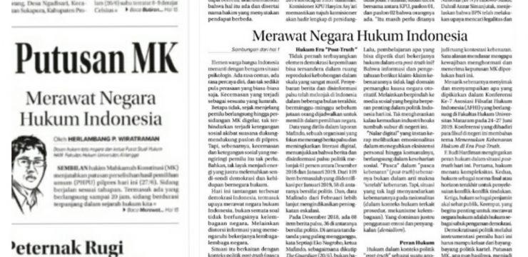 Merawat Negara Hukum Indonesia