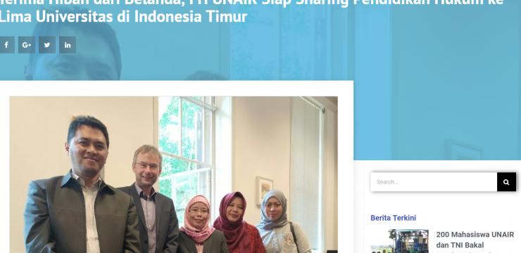 Terima Hibah dari Belanda, FH UNAIR Siap Sharing Pendidikan Hukum ke Lima Universitas di Indonesia Timur