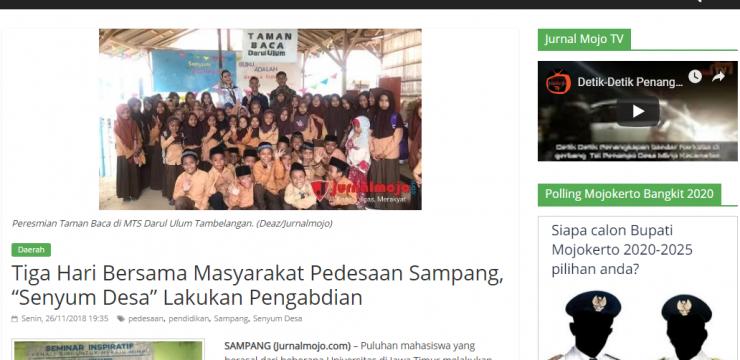 """Tiga Hari Bersama Masyarakat Pedesaan Sampang, """"Senyum Desa"""" Lakukan Pengabdian"""