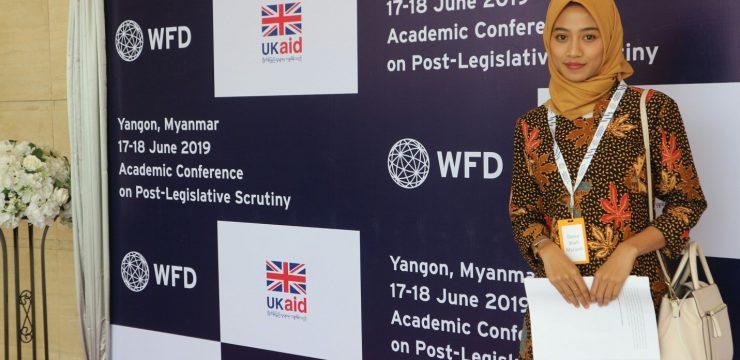 MAHASISWI FAKULTAS HUKUM UNAIR MENJADI PEMBICARA DALAM KONFRENSI INTERNASIONAL DI MYANMAR