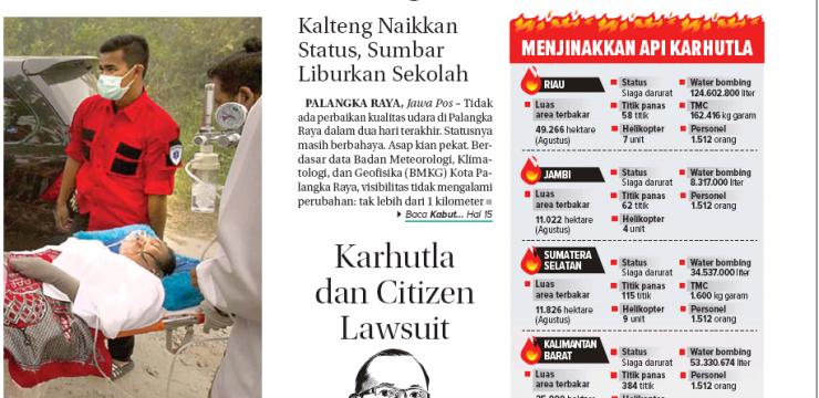 Karhutla dan Citizen Lawsuit
