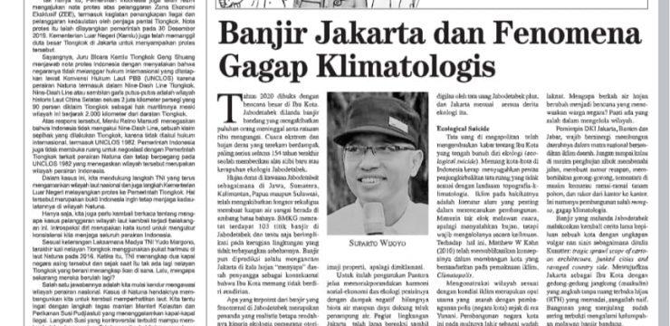 Banjir Jakarta dan Fenomena Gagap Klimatologis