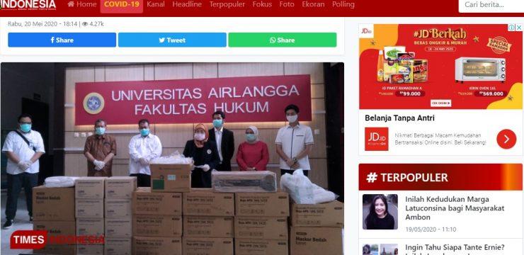 Alumni FH Unair Sumbang Ratusan Juta untuk Nakes dan Mahasiswa