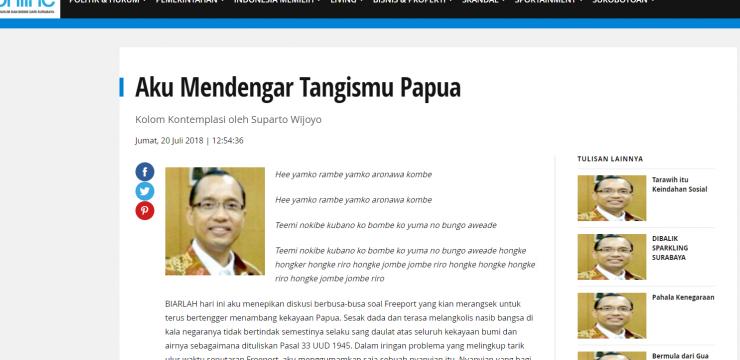 Aku Mendengar Tangismu Papua