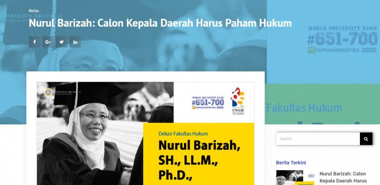 Nurul Barizah: Calon Kepala Daerah Harus Paham Hukum