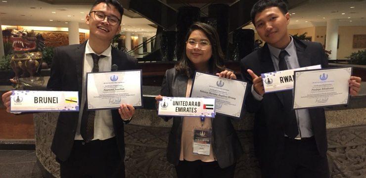 3 MAHASISWA FH UNAIR IKUTI ASIA INTERNATIONAL MODEL UNITED NASTIONS II DI BALI