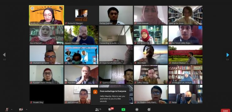 UNAIR Faculty of Law discusses online legal education with international experts