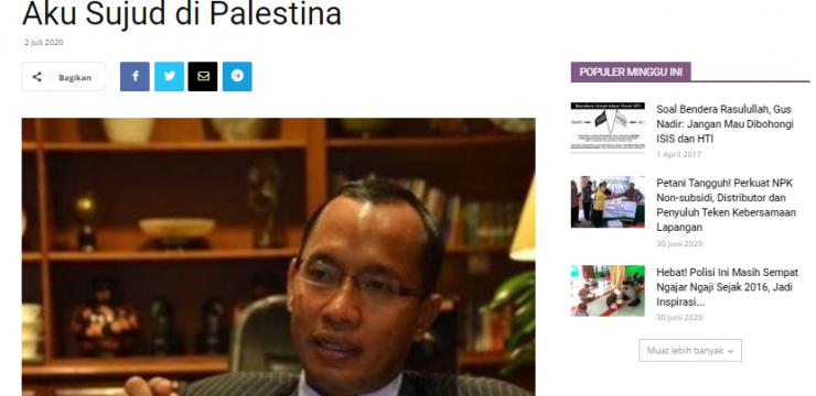 Aku Sujud di Palestina