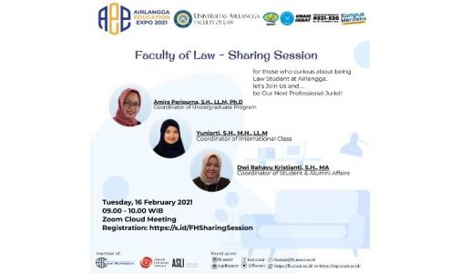 Airlangga Education Expo 2021: Faculty of Law – Sharing Session