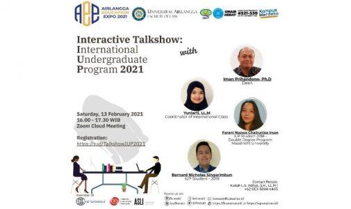 Airlangga Education Expo 2021: Interactive Talkshow: International Undergraduate Program 2021