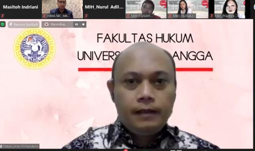 PENTINGYA INTEGRITAS AKADEMIK : PESAN DEKAN FH UNAIR DALAM PENERIMAAN MAHASISWA BARU PROGRAM MAGISTER