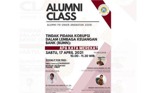ALumni Class : Tindak Pidana Korupsi Dalam Lembaga Keuangan Bank (BUMN)