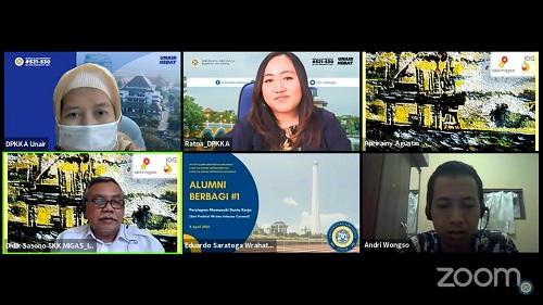 ALUMNI FH UNAIR BAGIKAN ILMUNYA DALAM AIRLANGGA CAREER CLUB: BAHAS TENTANG MISKONSEPSI KETAHANAN ENERGI DI INDONESIA
