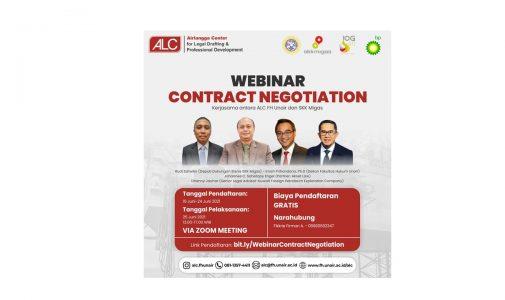 Webinar: Contract Negotiation