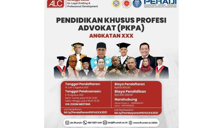 PKPA ANGKATAN XXX TAHUN 2021 - Fakultas Hukum
